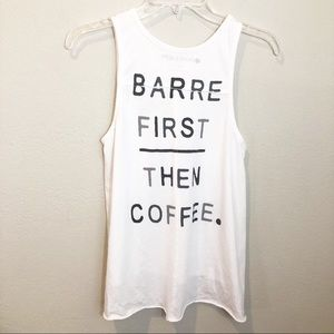 Pure Barre Barre First, Then Coffee tank